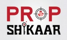 Logo of Prop Shikaar to representing house hunting and his successful business.