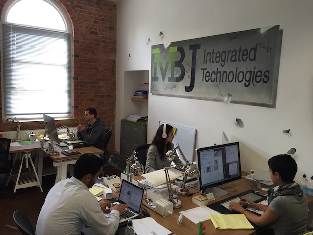 At MBJ Integrated Technologies in London, tech consultants offer advice and digital products at a discounted cost to customers.