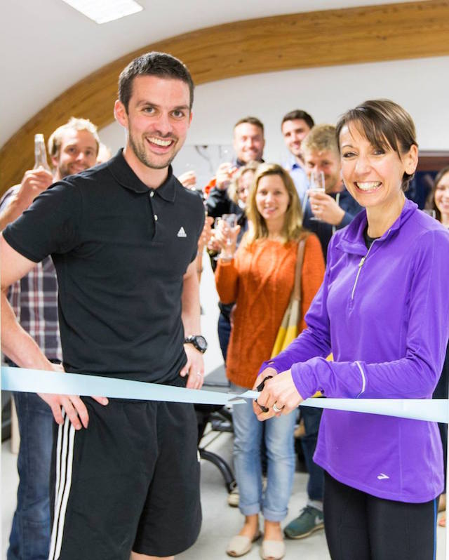 Andrew (left) celebrates the grand opening of ProCare Sports Medicine.