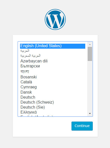 WordPress Language Setting