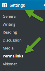 WordPress Permalinks Setting