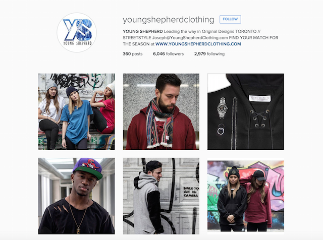 Young Shepherd Clothing Instagram