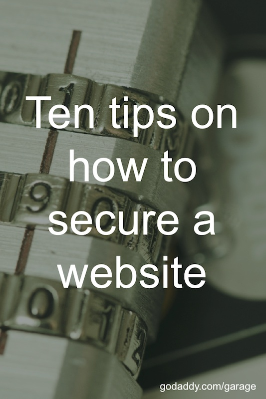 Pinnable image ten tips how to secure a website