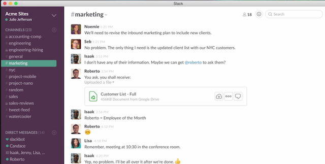 Slack for Project Management