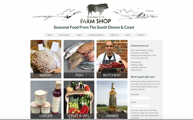 Standsted Park Farm Shop Website