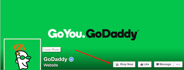 GoDaddy Facebook Page CTA