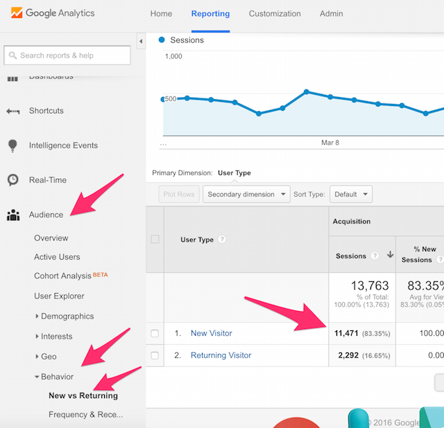 Google Analytics Website New Visitors