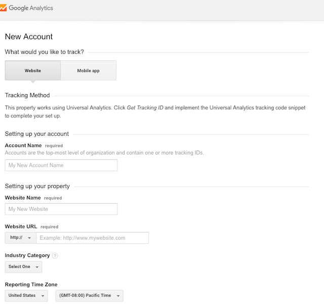 Set Up Google Analytics Website