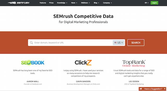 Google Rankings SEMrush
