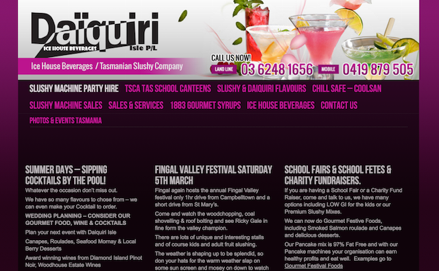 Daiquiri Isle Website
