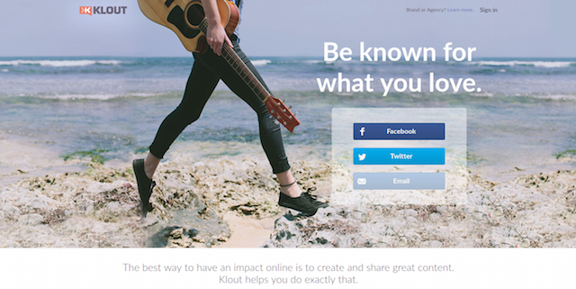 Measure Social Media Influence Klout