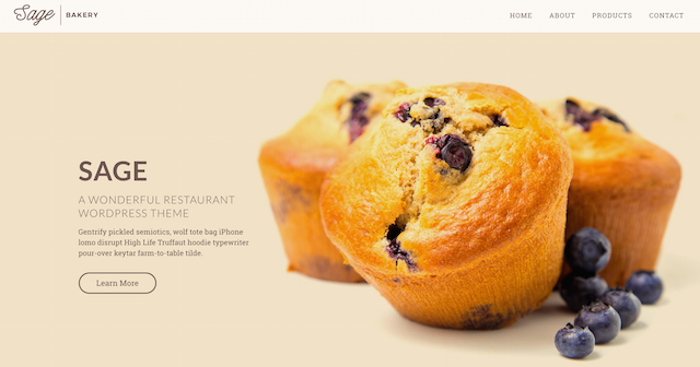 Restaurant Website Sage WordPress Theme