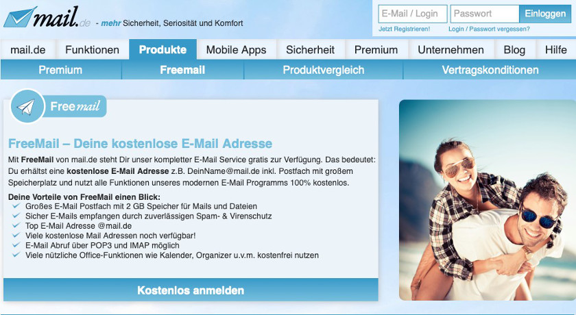 Abbildung4 - Freemailer mail Screenshot