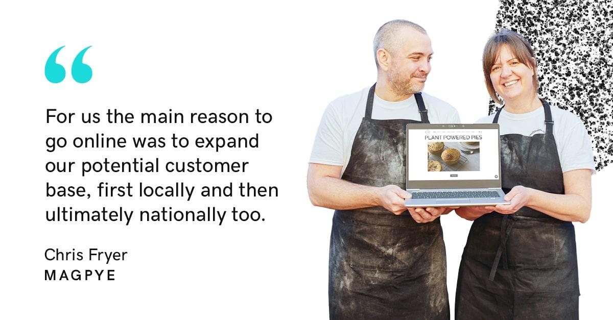 Chris Fryer founder of vegan pie supplier Magpye