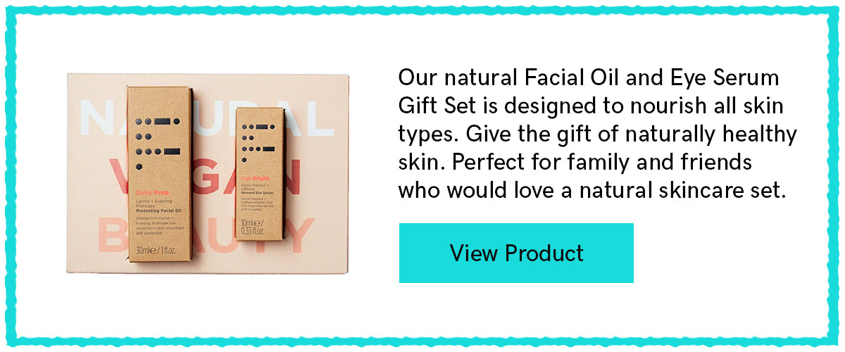 Gift Wrapped Natural Skincare Set - with Full Bright & Daily Prep From Five Dot Botanics