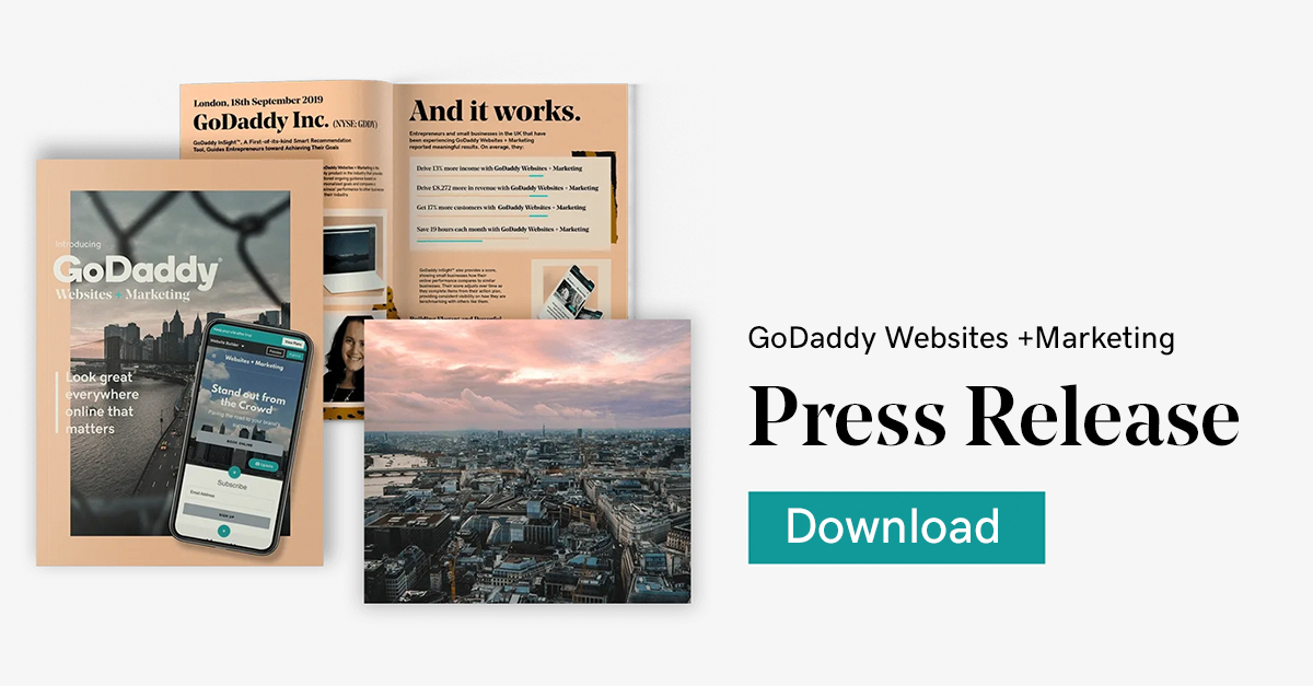 Introducing GoDaddy Websites + Marketing Press Release Pack