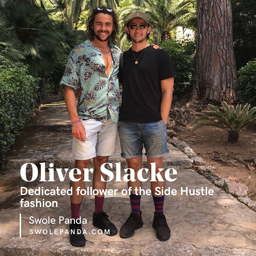 Oliver Slack the co founder of Swole Panda and a dedicated follower of the side hustle fashion