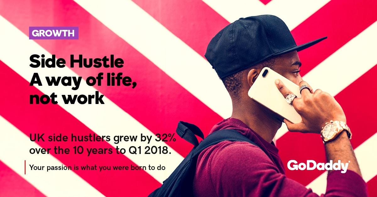 UK side hustlers grew by 32% over the 10 years to Q1 2018.
