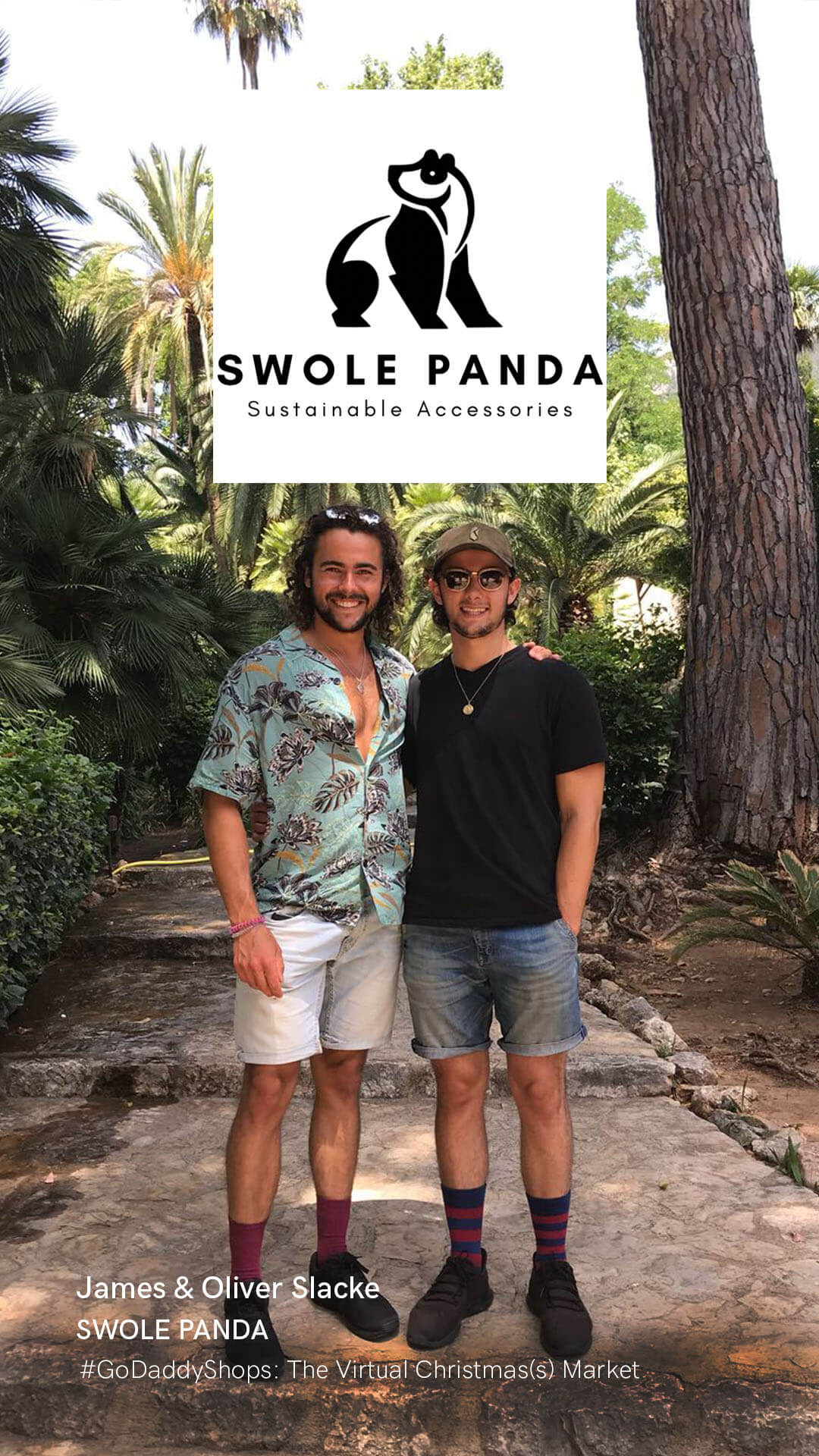 Oliver and James Slacke, founders of Swole Panda