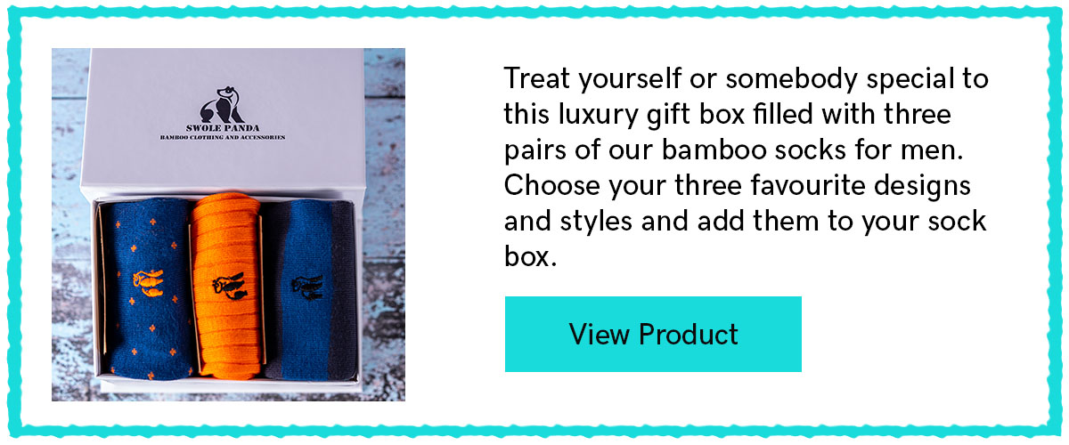 Simply Style Sock Box - 3 Pairs Of Bamboo Socks for Him
