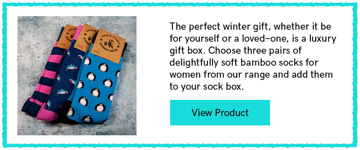 Simply Style Sock Box - 3 Pairs Of Bamboo Socks for Her