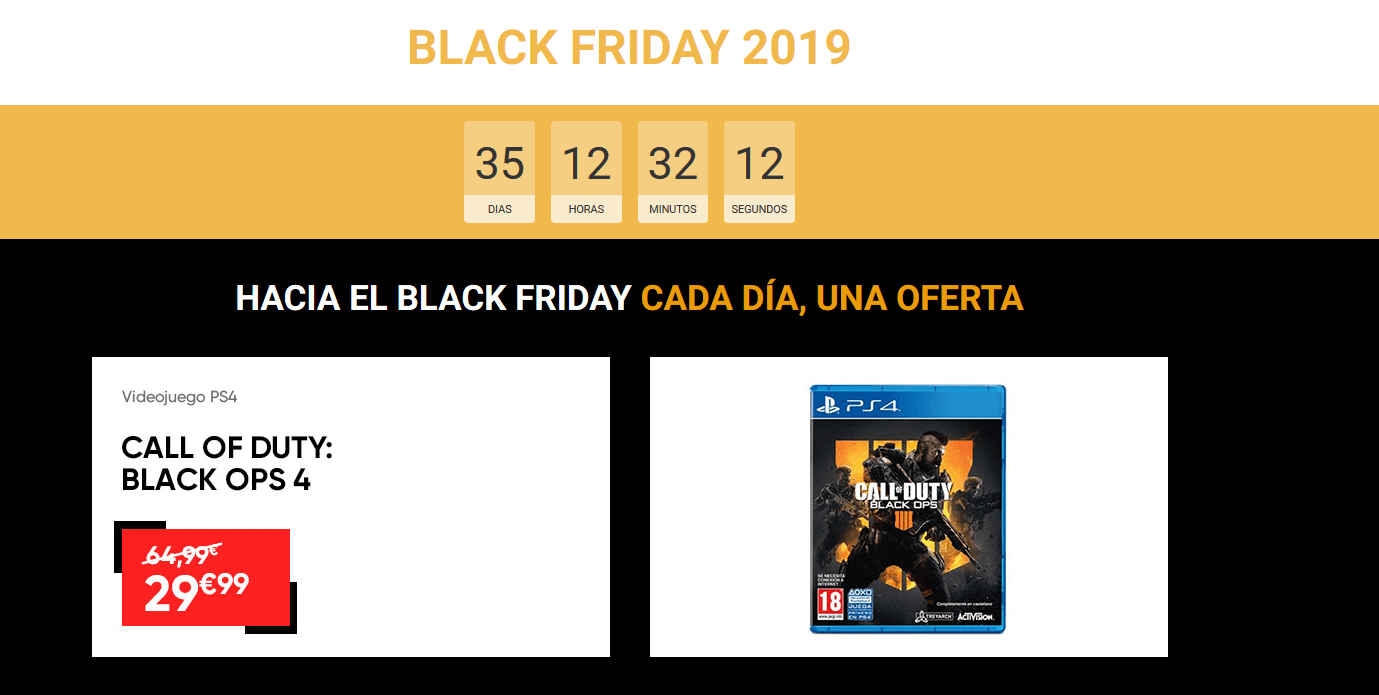 Ejemplo Black Friday 2019 Fnac