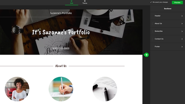 Build a Portfolio Website GoDaddy About Us