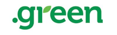Dot green domain name logo