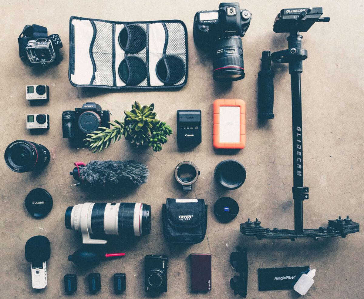 ürün fotoğrafı kamera ekipmanları