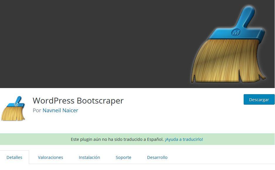Imagen de WordPress Bootscraper, un plugin WordPress para hacer limpieza de instalaciones WordPress