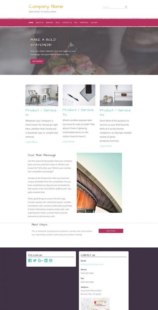 WordPress Websites Example Site