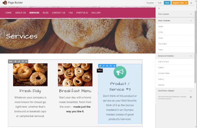 WordPress Websites Page Builder