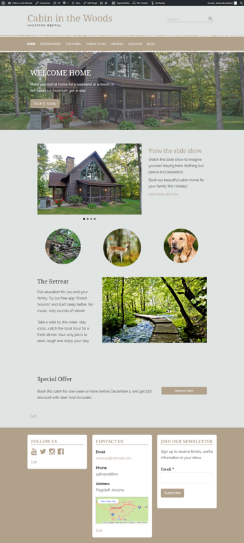 WordPress Websites Sample Page