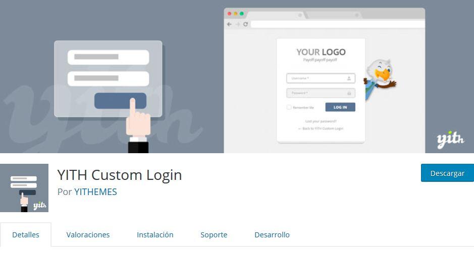 Imagen de YITH Custom Login, un plugin para personalizar la página de acceso a un WordPress.